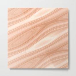 Cedar Wood Surface Texture Metal Print
