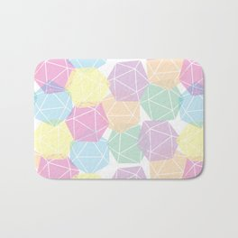Pastel D20 Pattern Dungeons and Dragons Dice Set Bath Mat