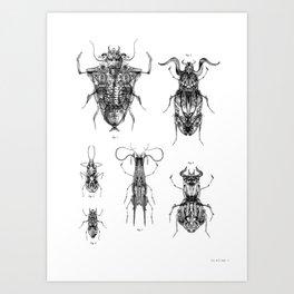 Entomologic Bones Art Print