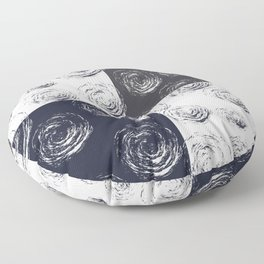 Circular Strokes Patched Pattern I Floor Pillow