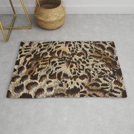 Beautiful fur high detailed vector leopard pattern design Rug