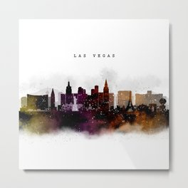 Las Vegas Watercolor Skyline Metal Print