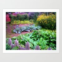 English Country Cottage Garden Art Print