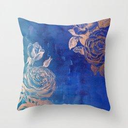 Rose Gold Watercolor Throw Pillow