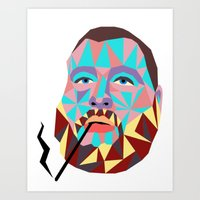 action bronson Art Prints featuring Action Bronson  by Fisch Design