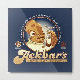 Ackbar's Diaper Cleaning Metal Print