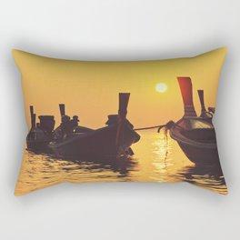 Longtail Thai boats @ sunset Rectangular Pillow