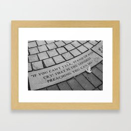 Cry. Framed Art Print