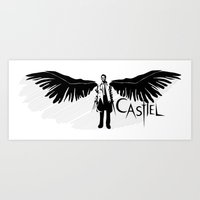 castiel Art Prints featuring Castiel by Mad42Sam