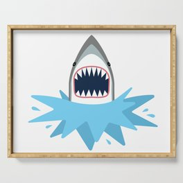 Cartoon Shark Splash Serving Tray