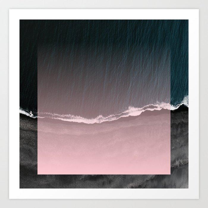 Fade into the sea Art Print