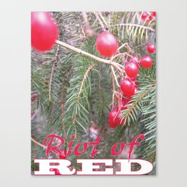 Riot of RED Canvas Print