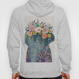 Elephant with flowers on head Hoodie