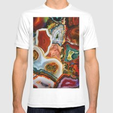 The Earth for the all-pervading Skies, the Moon and the Sun White Mens Fitted Tee MEDIUM