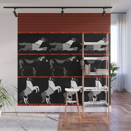 Horses and Lines Wall Mural