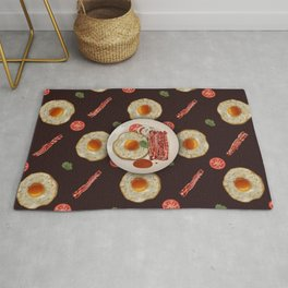 Fried Egg and Bacon Rug