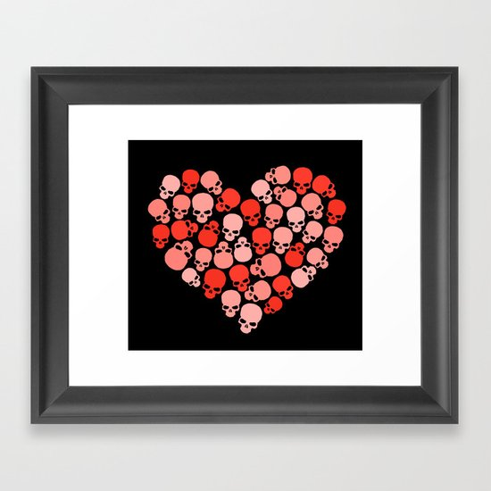 SKULL HEART FOR VALENTINE'S DAY Framed Art Print
