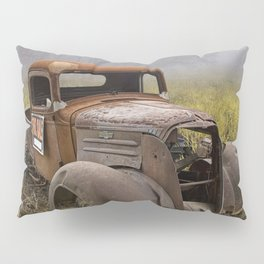 Vintage Chevy Pickup for Sale in a Field of Grass Pillow Sham