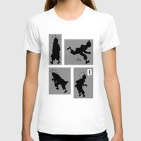 tintin T-shirts featuring Tintin, Silhouetted by Faellen