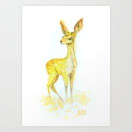 Gambade la biche carnivore Art Print