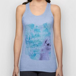 Much like the glorious llamacorn, I too am majestic and beautiful. Unisex Tank Top