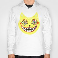 cheshire Hoodies featuring Cheshire Cat by Janna Morton