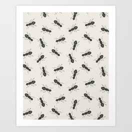 Ants Pattern Art Print