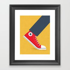 Awful Lot of Running – Red Framed Art Print