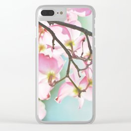 Dogwood Tree Clear iPhone Case