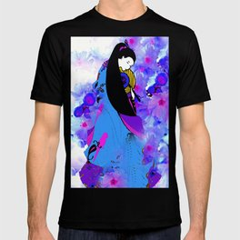 Asian Princess and Cherry Blossom Tree T-shirt