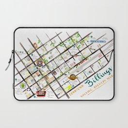 Downtown Billings Brewery Map Laptop Sleeve
