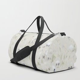 Pansy Field Floral Pattern Duffle Bag