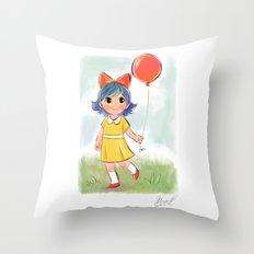 balloon makes a day Throw Pillow