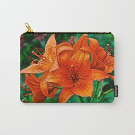 Orange Tiger Lilies - The Peace Collection Carry-All Pouch
