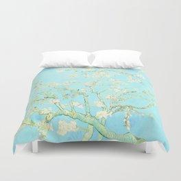 Vincent Van Gogh : almond blossoms Aqua Blue Duvet Cover