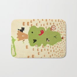 Be Good to Trees Bath Mat