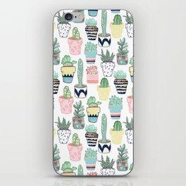 Cute Cacti in Pots iPhone Skin