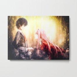 Darling in the Franxx   Hiro Metal Print