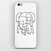 sia iPhone & iPod Skins featuring sia bobs by Melina Espinoza
