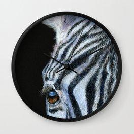 Zebra Detail Wall Clock