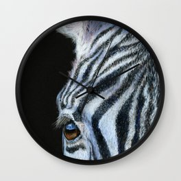Zebra Detail Wall Clock