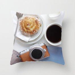 Refreshment while travel Throw Pillow