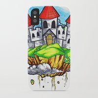 castle in the sky iPhone & iPod Cases featuring Castle In The Sky by Factory Three