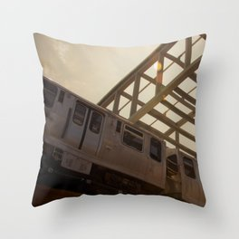The Pink Line Throw Pillow