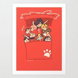 Haikyuu!! Nekoma Team Art Print