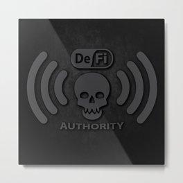 DeFi Gray Metal Print