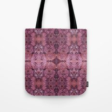 Dark florals-hippie, psychedelic, woodland, mandala, purple, red Tote Bag