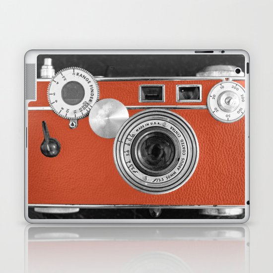 Tangerine Tango retro vintage phone Laptop & iPad Skin