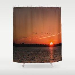Flight Over the Sun Shower Curtain