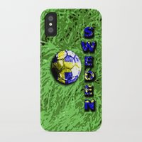 sweden iPhone & iPod Cases featuring Old football (Sweden) by seb mcnulty